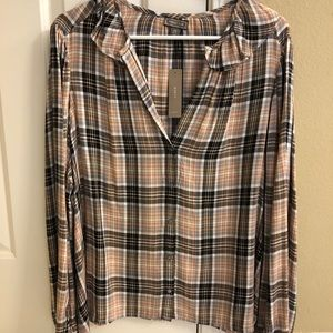 NWT J.Crew Point Sur drapery flannel top size 3X